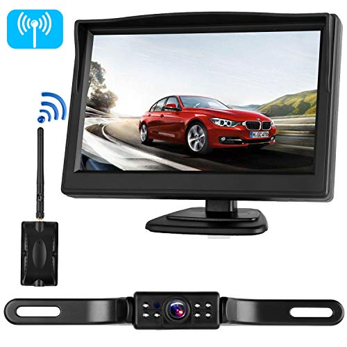 iStrong Digital Wireless Backup Camera System for RV/Cars/Trailers/Truck 5'' Monitor Kit Rear/Front/Side View Camera Reverse/Continous Use Guide Lines ON/Off IP69 Waterproof by iStrong