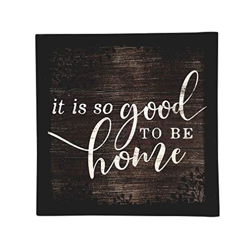 "Imprints Plus Inspirational Wood Sign Rustic Wall Décor Plaque with Sawtooth Hanger, Nail and Instruction Card (So Good to Be Home) (12"" x 12"") 147-00005"