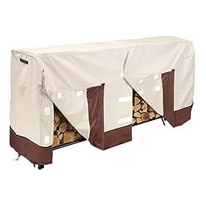 Heavy Duty leña para leños cubierta 8pies pila de leña, diseño de jardín al aire libre