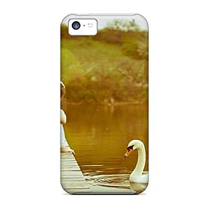 Case Cover Swan Lady/ Fashionable Case For Iphone 5c