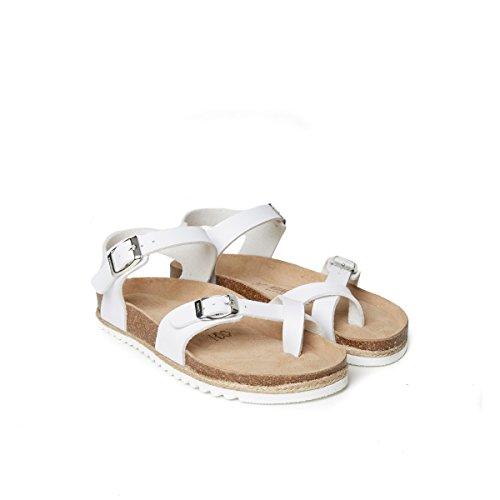 Des Md4109 Sandales Sandales Mode Blanc De Femmes Mandel Bianco De xI0pnq6