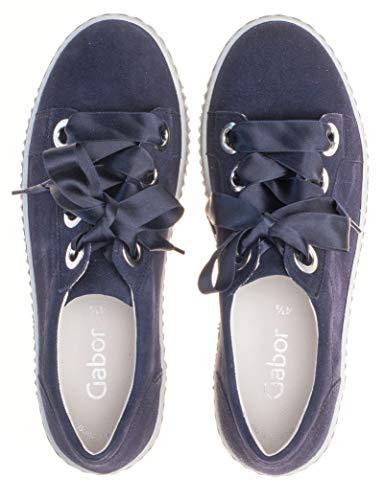 Ocio bluette Y mínimo 23 Mujer zapato 330 De Gabor Con Calle Negocios Uk de calzado Cordones calzado zapatilla Deporte 5 de Exterior calzado Deportivo 2 Casual U1qBwtxnt