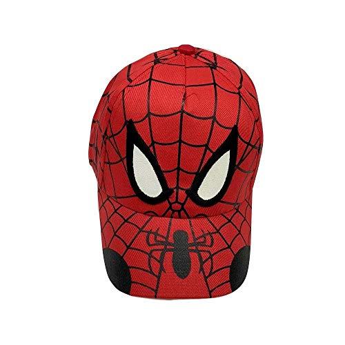 MTGH-cap Spiderman Cartoon Children Embroidery Cotton Baseball Cap Kids Boy Girl Hip Hop Hat Spiderman Cosplay Hat Red ()
