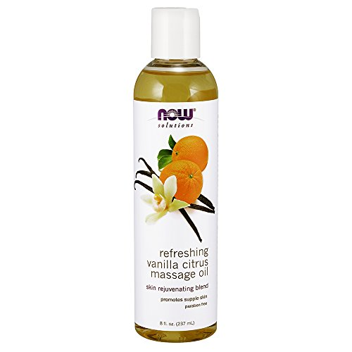 NOW Refreshing Massage Vanilla 8 Ounce product image