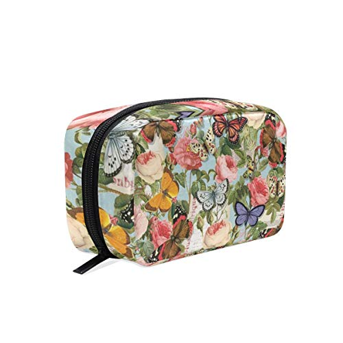 (Bijoux Paris Spring Butterflies Travel Makeup Cosmetic Bags Organizer Bag Multifunction Case Pouch Cosmetic and Toiletries)