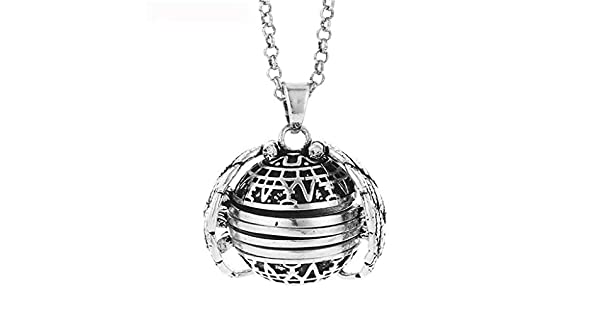 Amazon.com: Randolly Jewelry - Colgante de bola de plata con ...
