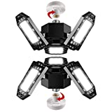 2-Pack Albrillo LED Garage Ceiling Lights E26 60W