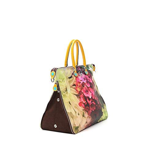 Shopping Bag Weekstudio Hydrangea Stampa Polyvinyl Chloride Con Dettagli In Pelle