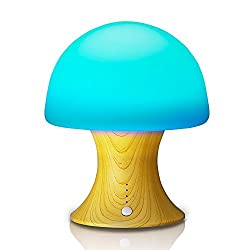 Night Light Tenswall 7 Color Changing Ambient Lights Crystal Mushroom Variable Appearance Portable Moving Lamp Table Light with Rechargeable Built-in 1200mah Battery