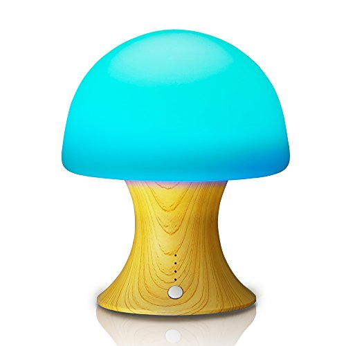 Night Light Tenswall 7 Color Changing Ambient Lights Crystal Mushroom Variable Appearance Portable Moving Lamp...
