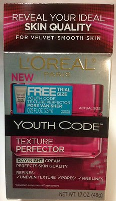 L'oreal Paris Youth Code Texture Perfector Day/night Cream, 1.7 Fl Oz. With Free Trial Size Youth Code Pore Vanisher.
