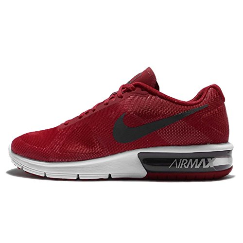 Nike Air Max Sequent, Zapatillas De Running para Hombre Rojo (Rojo (Gym Red/Mtlc Hematite-White))