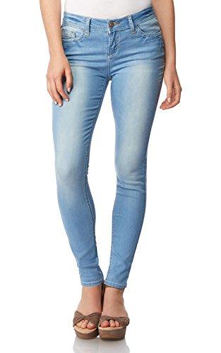 WallFlower Women's Juniors High Rise Irresistible Denim Jegging in Blake Size: 5 (Jeans Juniors Blue Denim)