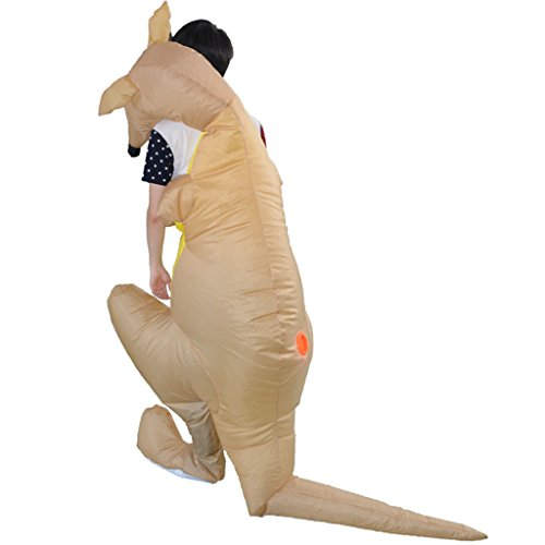 LB Inflatable Halloween Costume,Kangaroo Decoration Fancy Dress for Adult Kids Halloween Party Game