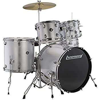 ludwig 5 piece accent drive drum set with hardware cymbals musical instruments. Black Bedroom Furniture Sets. Home Design Ideas