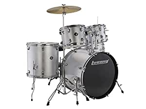 ludwig accent fuse 5 pc fusion size drum set with zildjian cymbals chromacast. Black Bedroom Furniture Sets. Home Design Ideas