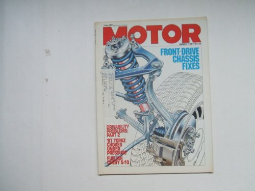 MOTOR MARCH 1991 (FRONT-DRIVE CHASSIS FIXES - DRIVABILITY for sale  Delivered anywhere in USA