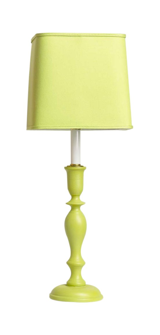 Yessica's Collection 4958LIM LP7 Lamp with Lime Square Shade, 23'' x 8.5'' x 23'', Lime Green