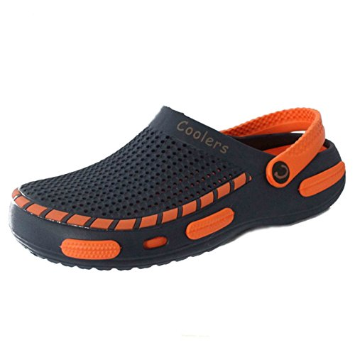 Mens Slip Clogs Unisex Blue Mules Shower On Womens Shoes Beach BrqpOB