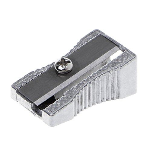 (LANDUM Metal Bevelled Single Hole Pencil Sharpener School Office Sharpener Stationery)