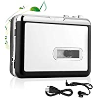 MIUONO Cassette Player Portable Walkman Cassette Tape Player Convert Tapes to MP3/WAV/CD via USB with Headphone for PC and Laptop