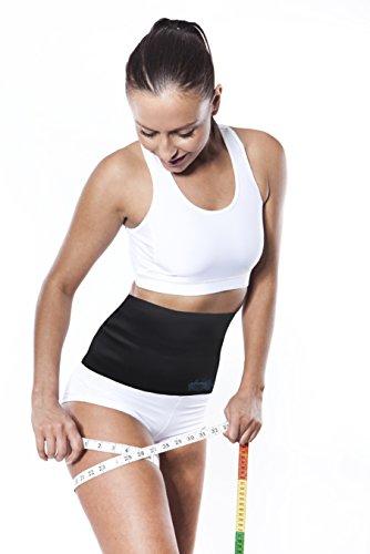 Fat Burning Sauna Belt- Small Weight Loss Belt - Exercise Corset - Cut Weight, Shred Fat, & Melt Pounds off Your Waist - Small Slimmer Belt - Tummy Tuck, Fat Burner, 6 Pack Abs