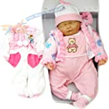 New Born Sleeping Soft Bodied Baby Doll with 2 Outfits & Gift Box Toy 18""