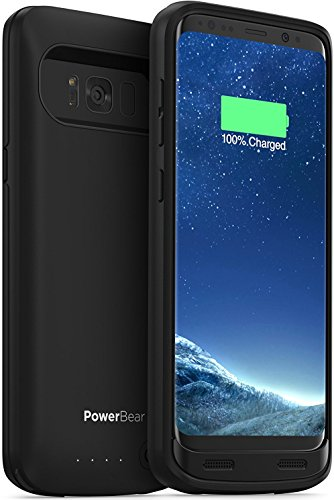 PowerBear Samsung Galaxy S8 Plus Battery Case [5000mAh] High Capacity External Battery Charger for Galaxy S8+ (Up to 140% Extra Battery) – BLACK [24 Month Warranty]