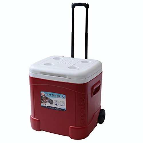 Igloo Products Corporation 00045688 Ice Cube Roller Cooler, 60 quart, Red for A Stress-Free Memorial Day Weekend Camping Trip