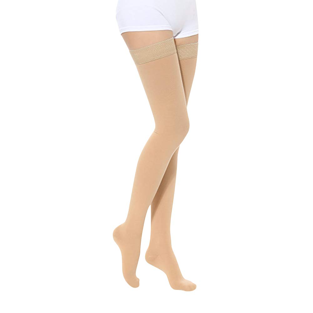 SKYFOXE Medical Thigh High Compression Stockings for Women Men- Closed Toe Firm Support 20-30 mmHg Gradient Compression Socks Support Hose for Treatment Swelling, Varicose Veins, Edema