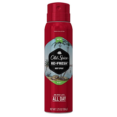 Price comparison product image Old Spice Fresh Collection Body Spray, Fiji, 3.75 oz (Pack of 2)