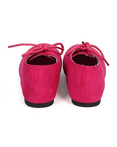 JELLY BEANS Suede Round Toe Lace Up Classic Ankle Oxford Flat (Toddler/Little Girl/Big Girl) DG66 - Fuchsia (Size: Little Kid 11) by JELLY BEANS (Image #3)