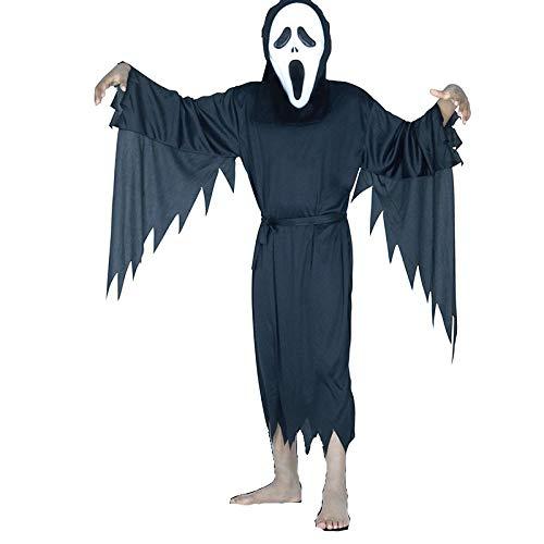 MMYP Halloween Masquerade Costume Children's Ghost Festival Horror Mask Black ()