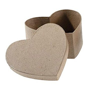 Darice Bulk Buy DIY Paper Mache Box Heart 4-1/2 x 4-1/2 x 2 inch (6-Pack) 2833-32