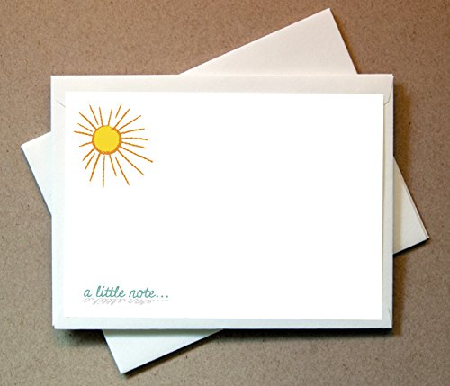 Sun Note Cards (24 Non-foldover Cards and ()