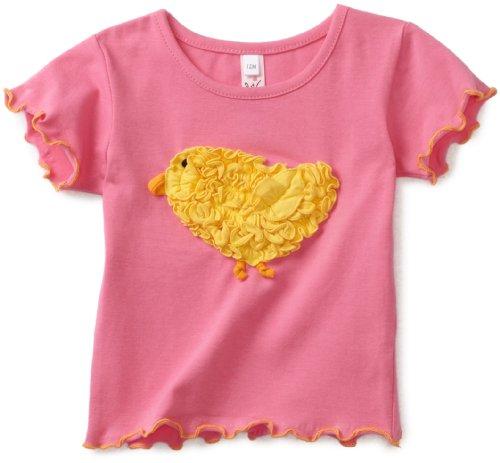 Love U Lots Baby Girls' Ruffle Chick Baby Tee