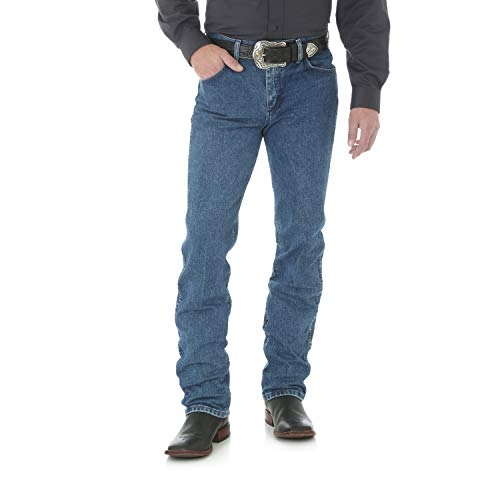 Wrangler Men's Premium Performance Cowboy Cut Slim Fit Jean, Dark Stone, 30W x -