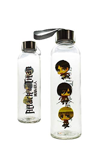 Attack On Titan Glass Water Bottle]()