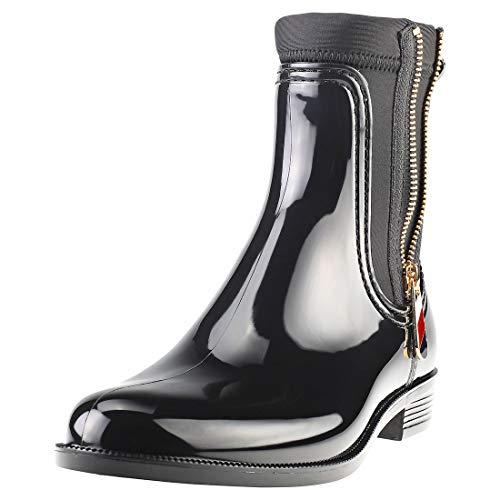 Tommy Hilfiger Material Mix Rain Womens Chelsea Boots Black - 40 EU