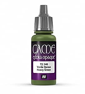 Vallejo Game Color Heavy Green X-Opaque Paint, 17ml