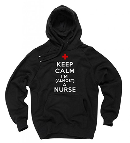 Student Nurse Sweatshirt - Almost A Nurse Funny Hoodie Sweatshirt Medium Black