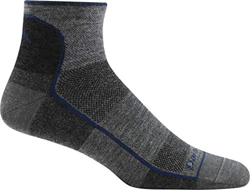 Darn Tough Men's Merino Wool 1/4 Ultra-Light Athletic Socks - 6 Pack Special, Charcoal XL