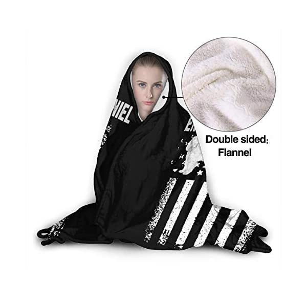 MAOYIHO Polo English Cocker Spaniel America Flag Hooded Blanket Kids & Adults Sherpa Fleece Blanket 3