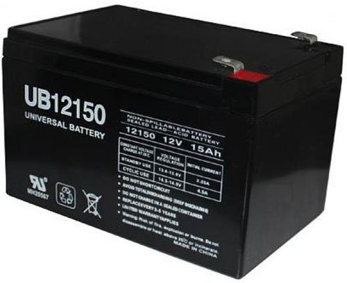 Universal Power Group 12V 15Ah F2 Scooter Bike Battery Replaces 14Ah Ritar RT12140EV, RT 12140 EV by Universal Power Group