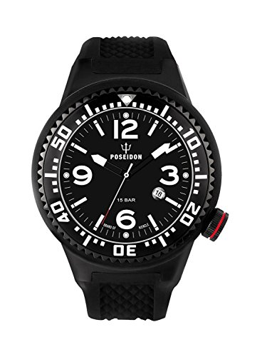 Kienzle Poseidon Men's XL Black Pro Watch - Black