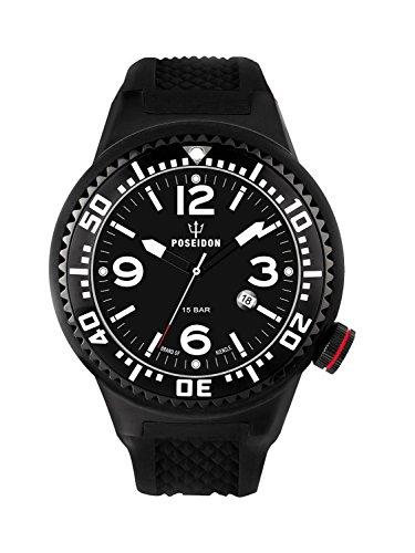 Kienzle Poseidon Men's XL Black Pro Watch - Black