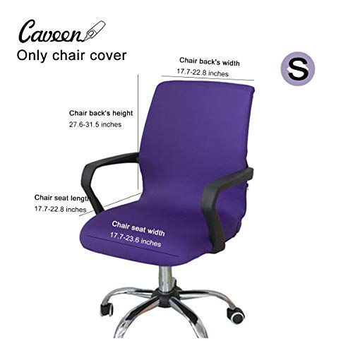 Caveen Office Chair Cover Computer Chair Universal Boss Chair Cover Modern Simplism Style High Back Large Size (Chair not included) purple small
