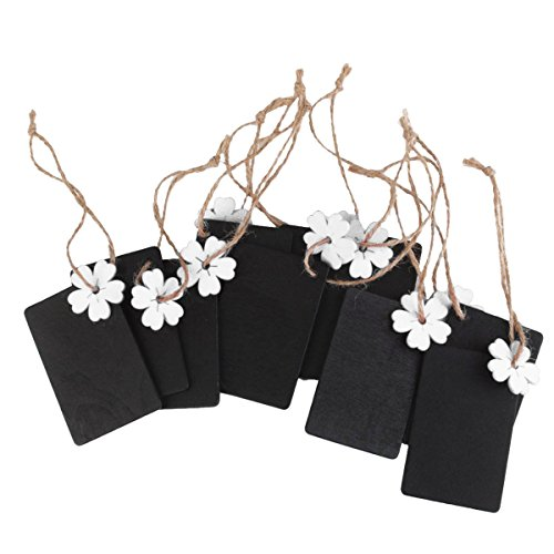 ULTNICE 10pcs Mini Chalkboard Hanging Blackboard Wood Gift T