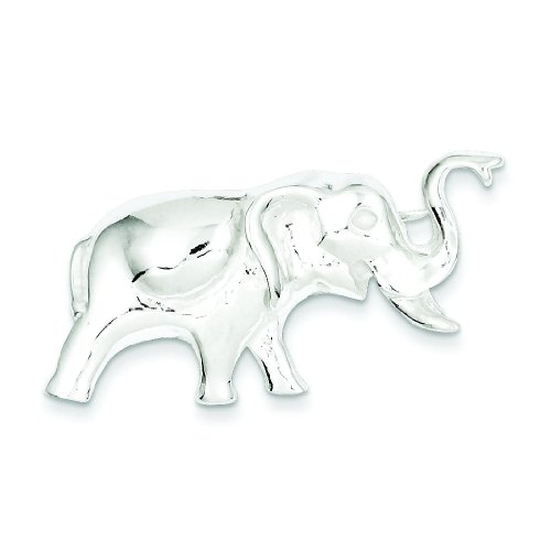 Sterling Silver Elephant Pin Brooch Animal Jewelry