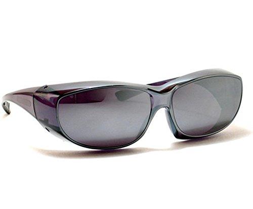 Silver Mirror Sun Shield Sunglasses Medium Size Fits Over Prescription - Ccs Sunglasses